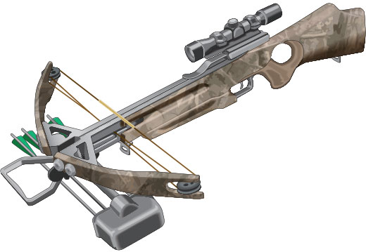 Crossbow with optical sight