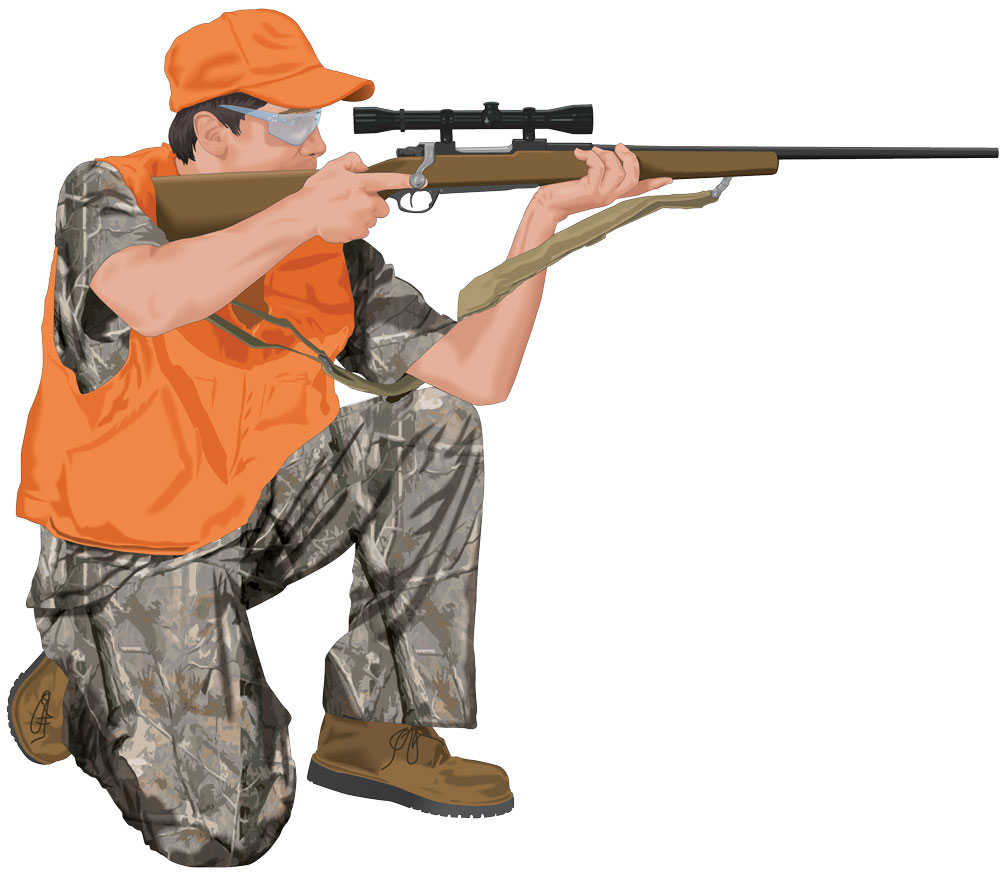 Kneeling shooting position